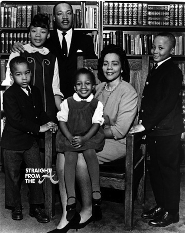 Family is King, L-R Martin Luther King Jr., Yolanda, Dexter, Bernice, Coretta Scott-King, Martin Luther King III